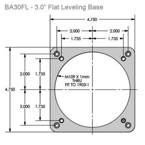 """Starlight Instruments Base para enfocador de 3,0"""" de diámetro, plano con tornillos niveladores"""