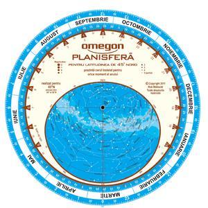Omegon Harta cerului planisfera 25cm / 45°