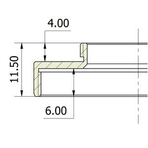 Omegon Adaptador C-Mount (macho) à T2 (femea)