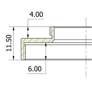 Omegon Adaptador C-Mount (macho) para T2 (hembra)