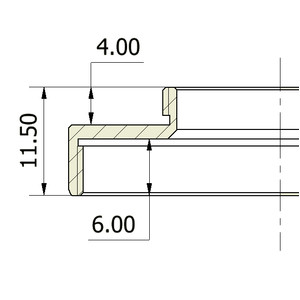 Omegon Adapter C-mount / T2 (męski/żeński)