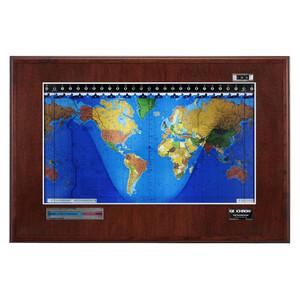 Geochron Boardroom de caoba con marco plateado