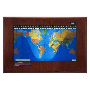 Geochron Boardroom Modell in Mahagoni Echtholzfurnierausführung und schwarzen Zierleisten