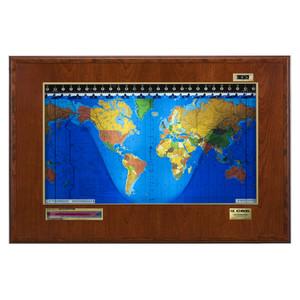 Geochron Boardroom Modell in Kirsch Echtholzfurnierausführung und goldfarbenen Zierleisten