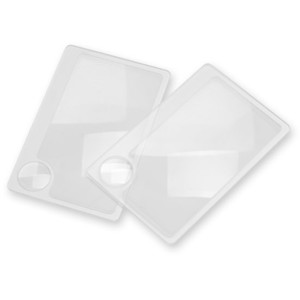 Carson Wallet twin pack flat magnifying glass