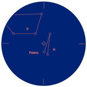 Explore Scientific Cercatore ES 8x50 visione diagonale 90° con prisma di Amici e reticolo polare inciso