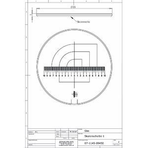 Schweizer Lente d`Ingrandimento Scala 1 per lenti d'ingrandimento da appoggio Tech-Line