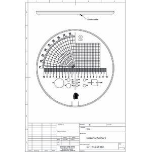 Schweizer Lente d`Ingrandimento Scala 2 per lenti d'ingrandimento da appoggio Tech-Line