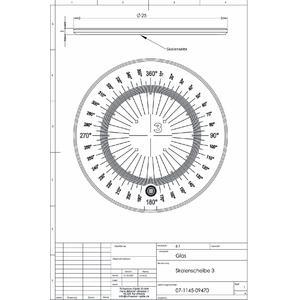 Schweizer Lente d`Ingrandimento Scala 3 per lenti d'ingrandimento da appoggio Tech-Line