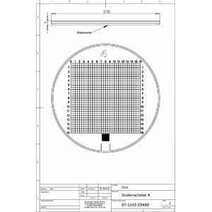 Schweizer Lente d`Ingrandimento Scala 4 per lenti d'ingrandimento da appoggio Tech-Line