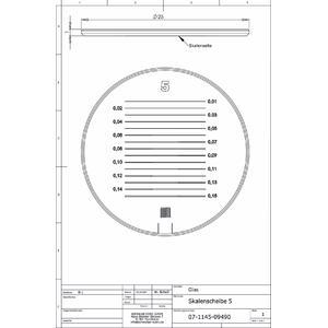 Schweizer Lente d`Ingrandimento Scala 5 per Lenti d'ingrandimento da appoggio Tech-Line