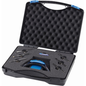 Schweizer Lente d`Ingrandimento Set professionale lenti d'ingrandimento a LED con fascia Tech-Line in valigetta di plastica