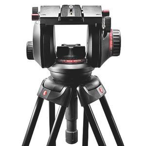 Manfrotto Testa video Pro Fluid 509HD con mezza sfera 100mm e 509PLONG