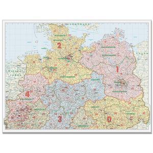 Bacher Verlag Carte des codes postaux: Allemagne du Nord 1:500.000