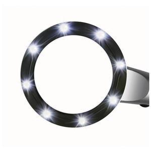 Bresser Loupe 2,5x, diamètre 55 mm, éclairage LED