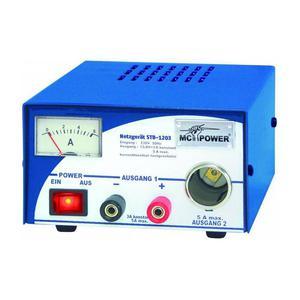 Omegon Fuente de alimentación eléctrica estabilizada de , potencia 3/5 amperios, entrada 230 V, salida 13,8V