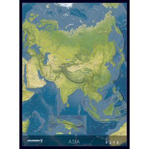 Columbus Kontinent-Karte Kontinentkarte Asien KK2021AS