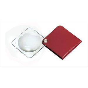 Eschenbach Magnifying glass Classic 50mm folding magnifier, carmine red