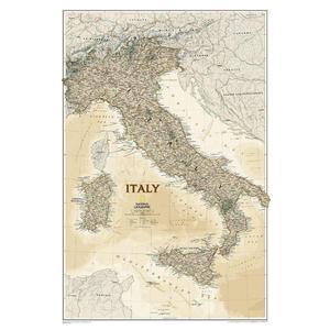 National Geographic Mappa Carta antica dell'Italia