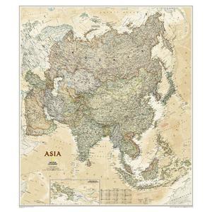 National Geographic Kontinent-Karte Asien