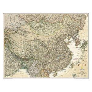 National Geographic Mappa Carta antica della Cina