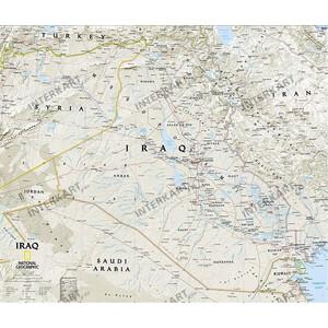 National Geographic Mappa Carta dell'Iraq