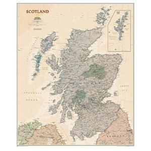 National Geographic Mappa La Scozia