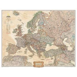 National Geographic Mappa Continentale Carta antica dell'Europa in 3 parti