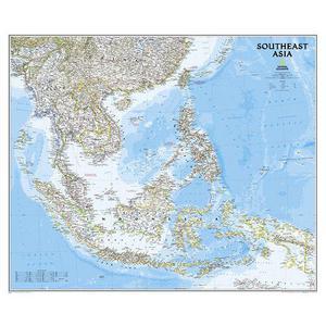National Geographic Mappa Regionale Carta dell'Asia del Sud
