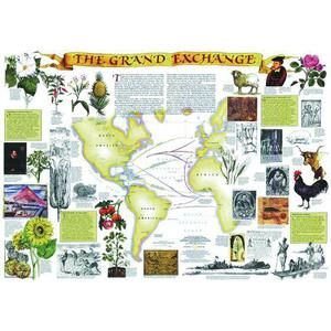 National Geographic Landkarte Die Spanier in Amerika