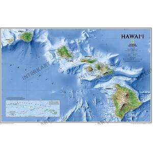 Carte géographique National Geographic Hawaii