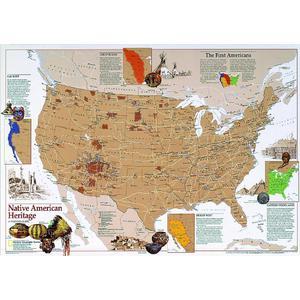 National Geographic Landkarte Amerikanisches heimatliches Erbe