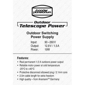 Baader Outdoor Telescope Power Schaltnetzteil 12,8V / 1,5A 19W mit Winkelstecker