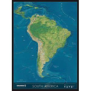 Columbus Carte de continent Amérique du Sud