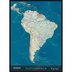 Columbus Continent map South America