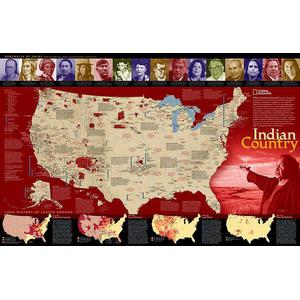 National Geographic Landkarte Indian Country
