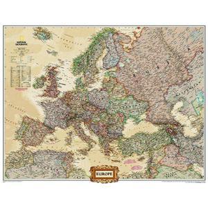 National Geographic Mappa Continentale Carta politica dell'Europa, grande, laminata