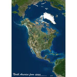 Carte des continents Planet Observer Planète Observer Amérique du Nord