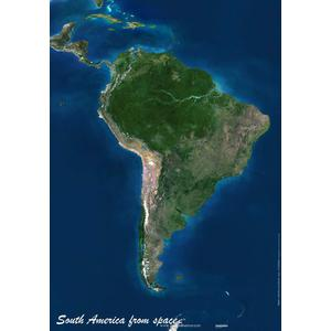 Planet Observer Continent map South America