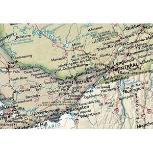 Geographic antique map of canada laminated national geographic antique map of canada laminated sciox Images