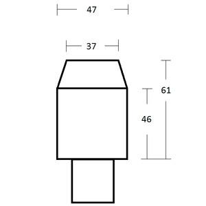 """Omegon Adaptador de proyección 2"""" con punto de conexión T2"""