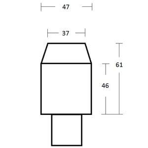 Omegon adaptador de projeção de 2'' com conexão T2