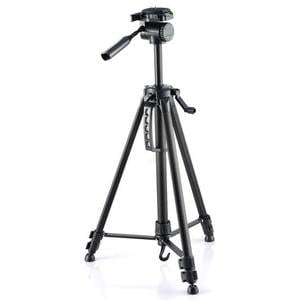 Omegon aluminium tripod with tilt head, black