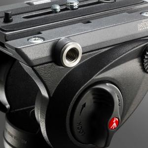 Manfrotto Treppiede Carbonio MVH500AH,755CX3 con testa video fluida