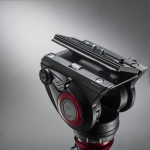 Manfrotto 2-way-panheads MVH500AH fluid video tilt head, flat base