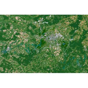 Carte régionale Planet Observer Planète Observer Land de Berlin et les environs