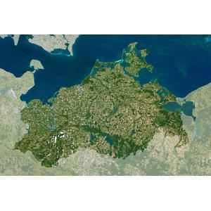 Planet Observer Mappa Regionale Meclemburgo - Pomerania occidentale