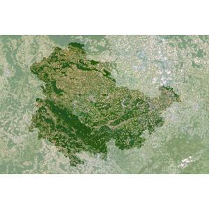 Planet Observer Mapa regional : Turingia