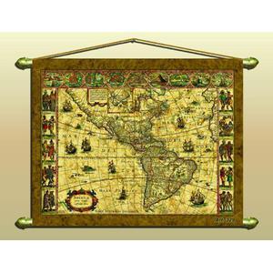Zoffoli Kontinent-Karte Antike Karte (Reproduktion) Nr. 329/2