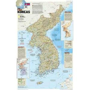 National Geographic Map Korea - the forgotten war - 2-seitig